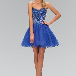Sweetheart Neck Strapless Short Prom Dress GS1110